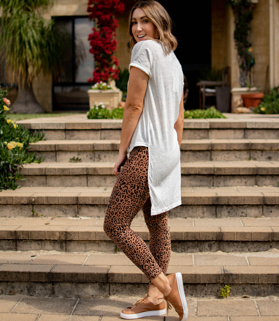 Morgan Leopard Print Leggings (FINAL SALE)