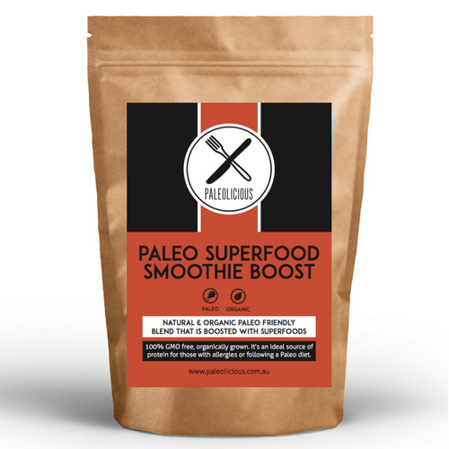 PALEO SUPERFOOD SMOOTHIE BOOST - Organic Superfood Protein and Smoothie blend - Paleolicious