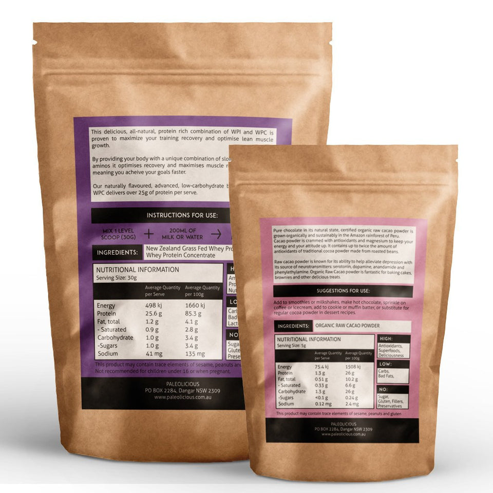 BUNDLE - Best WPI & WPC And Organic Raw Cacao Powder Online