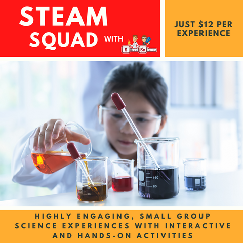 STEAM SQUAD: 05/11/2020 Yr3-6 Rockets (Forces in Action & Kitchen Chemistry) Thursday November 5, 4pm - 5pm