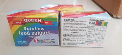 Food Dye - For Rainbow Snow (4pk)
