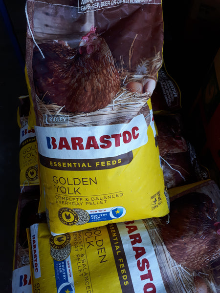 Barastock golden yolk chook feed