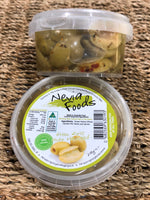 Nevia Foods Green Split Olives Marinated 200g
