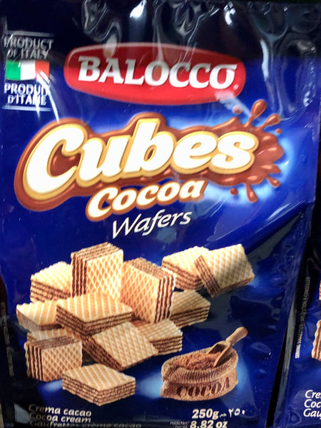 Balocco Cubes Cocoa Wafers 250g