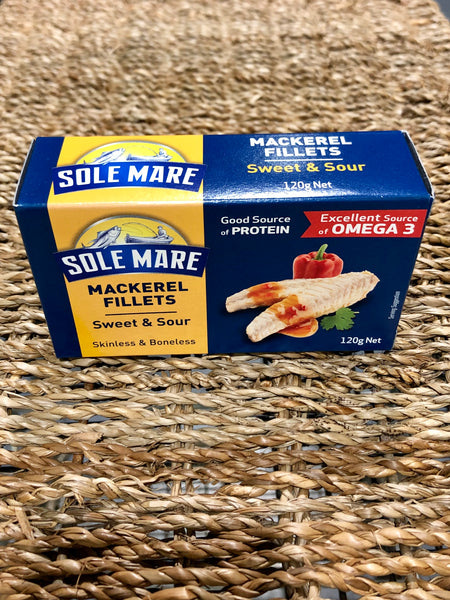 Sole Mare Mackerel Fillets 120g