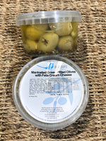 Bluebird Antipasto Marinated Green Pitted Olives with Feta Cream Cheese 200g