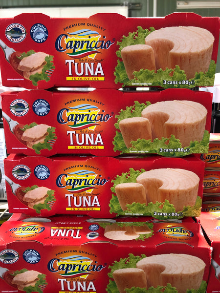 Capriccio Tuna in Olive Oil 3 cans x 80g