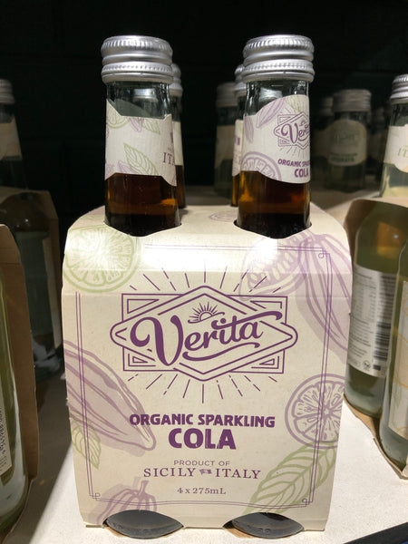 Veritta Organic Sparkling Cola 275ml 4 Pack
