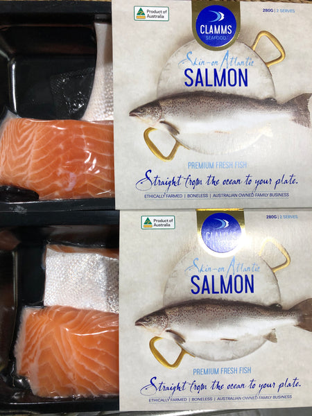 Fresh Salmon steaks fish