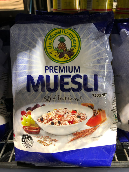 The Muesli Company Premium Muesli Full or Fruit Cereal 750g