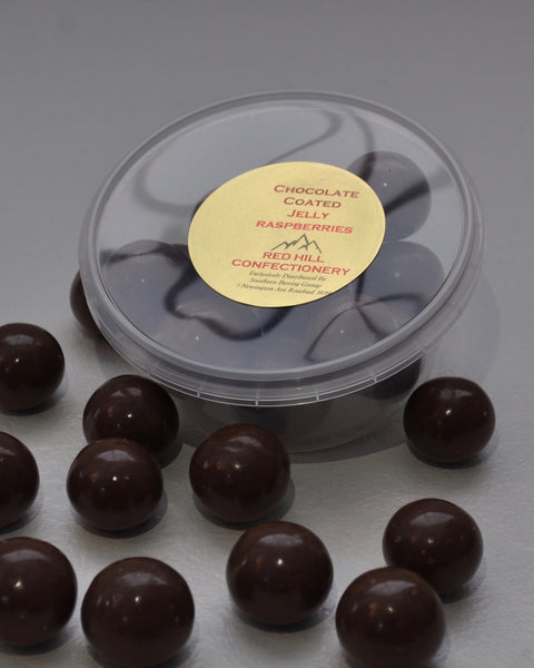 Red Hill Confectionery Chocolate Coated Raspberries 200g Tub
