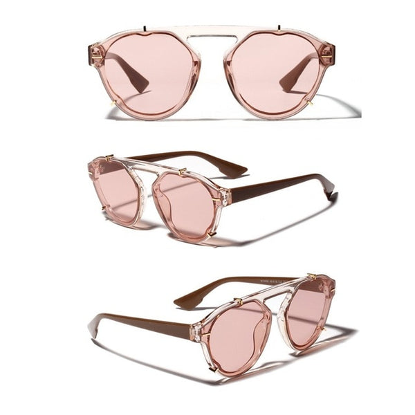 Big Round Oval Frame Beach Sunglasses