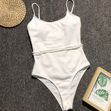High Waisted Bathing Suit One Piece