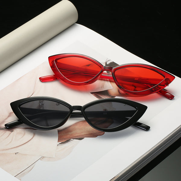 Cat Eye Style Clear Frame Sunglasses