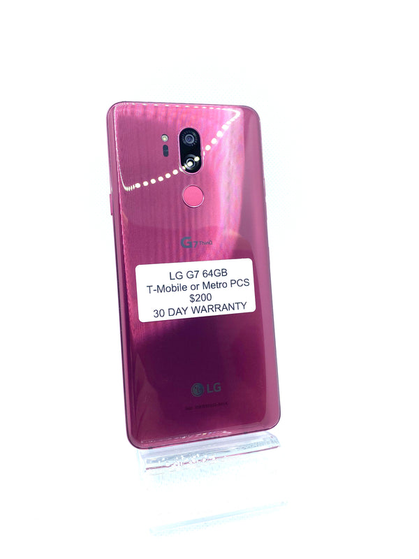LG G7 64GB Raspberry Rose T-Mobile