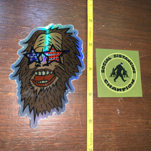 Bigfoot Sticker Set - Free shipping