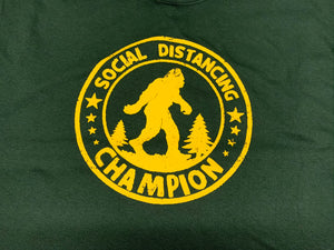 Social Distancing Champion Bigfoot T-shirt
