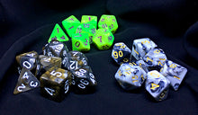 Load image into Gallery viewer, Deluxe Mystery Dice Set with Satin Lined Velvet Bag FREE shipping