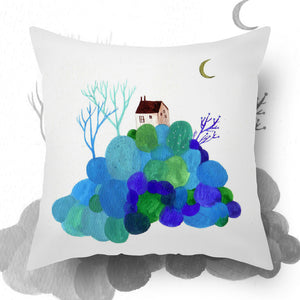 UMade Artist Throw Pillow ★藝術家創作抱枕★  Blue Island - Chichi Huang