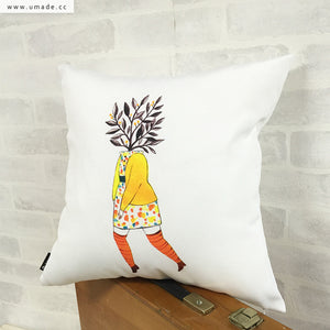 UMade Artist Throw Pillow ★藝術家創作抱枕★  緩慢萌芽的夢 - Chichi Huang
