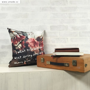 UMade Artist Throw Pillow★藝術家創作抱枕★ Cherry blossom affair, in the city. 城市裡的煽情櫻花 -Jenn.Y