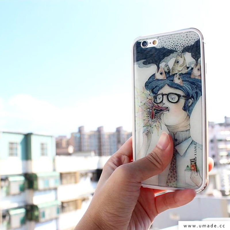 UMade iPhone case/iPhone手機殼-亮面硬殼-i6p/i6-金色-莉淇Lichi G.