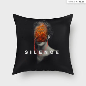 UMade Artist Throw Pillow-藝術家創作抱枕-Silence- Frank Moth
