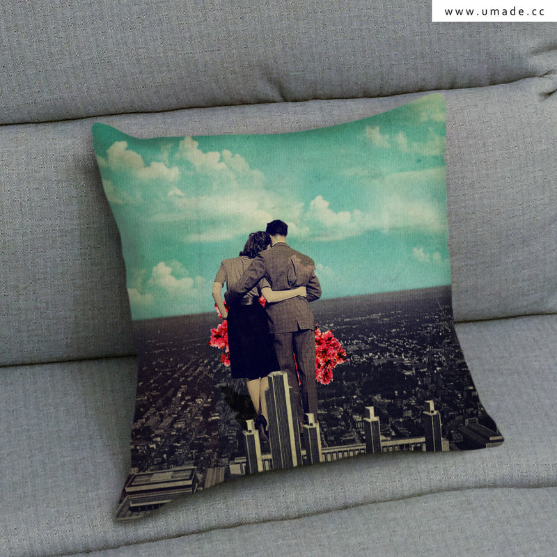 UMade Artist Throw Pillow-藝術家創作抱枕-Together- Frank Moth