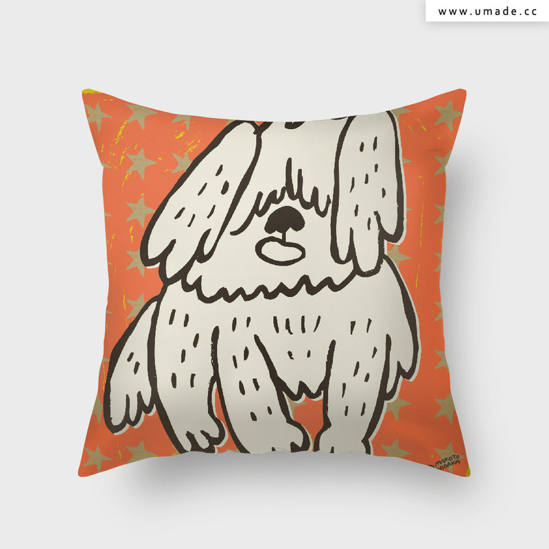 UMade Artist Throw Pillow ★藝術家創作抱枕★ 牧羊犬 - Makoto Hidaka