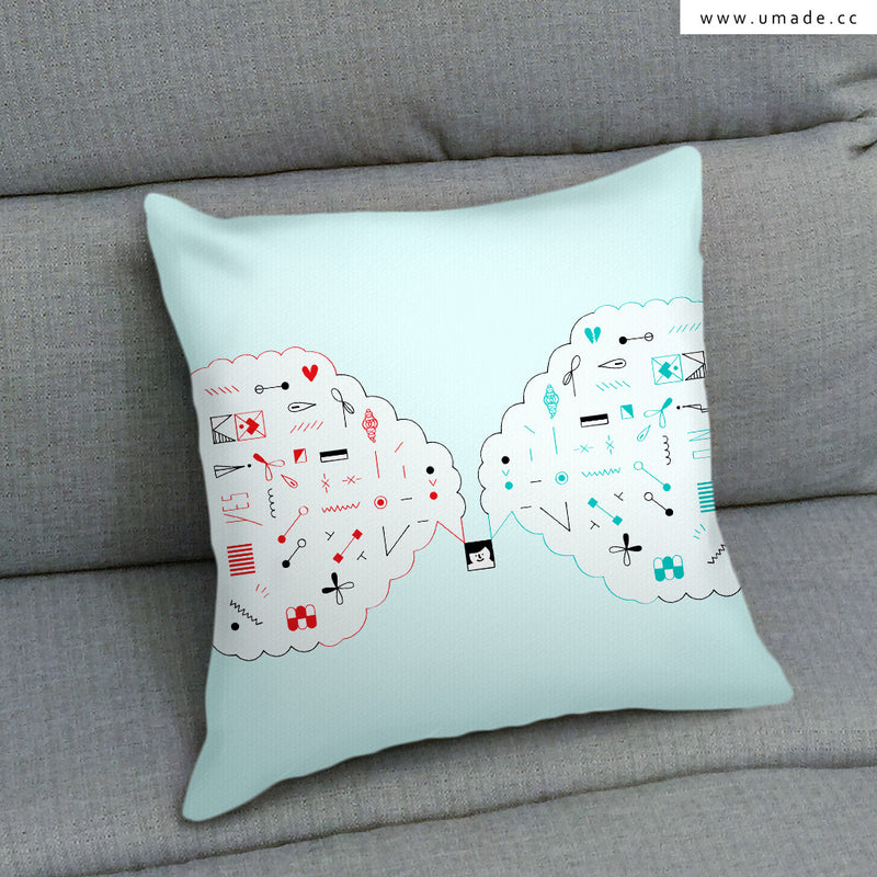 UMade Artist Throw Pillow ★藝術家創作抱枕★ 相反- Fiona Chien