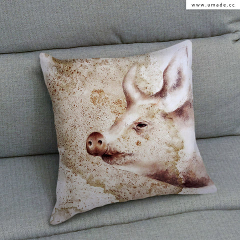 UMade Artist Throw Pillow ★藝術家創作抱枕★ 你好嗎 - Chi ou