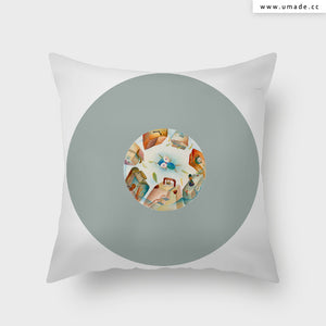 UMade Artist Throw Pillow★抱枕 午休枕 車枕★ 游泳的天空 - Glory Cheng