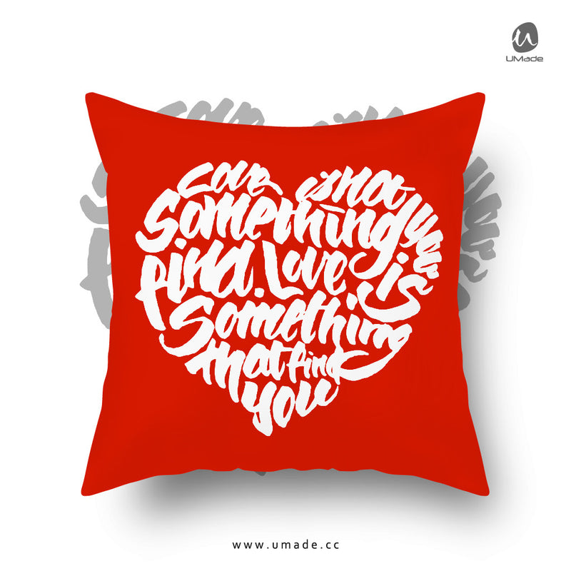 UMade Artist Throw Pillow★藝術家創作 抱枕午休枕 車枕★ LOVE - Jibu Wang 王幾不
