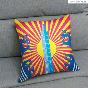 UMade Artist Throw Pillow★藝術家創作抱枕★ Skydragon Kingdom 天龍國 - MIKEI HUANG