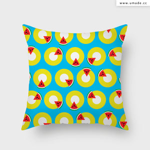 UMade Atist Throw Pillow ★藝術家創作抱枕★ WATERMELON 西瓜時間  - MIKEI HUANG
