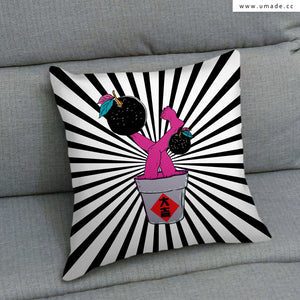 UMade Artist Throw Pillow ★藝術家創作抱枕★大吉 - PIDANG WU