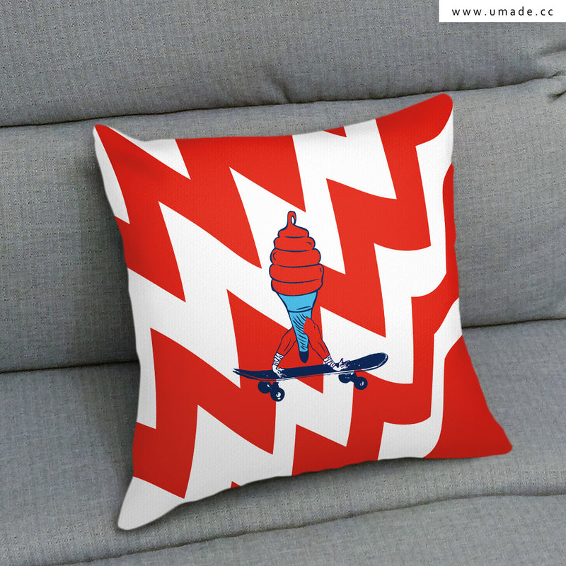 UMade Artist Throw Pillow ★藝術家創作抱枕★ ICECREAM - PIDANG WU