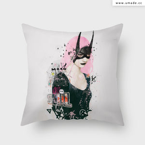 UMade Artist Throw Pillow-藝術家創作抱枕-Dark Knight of the Soul - Raphaël Vicenzi