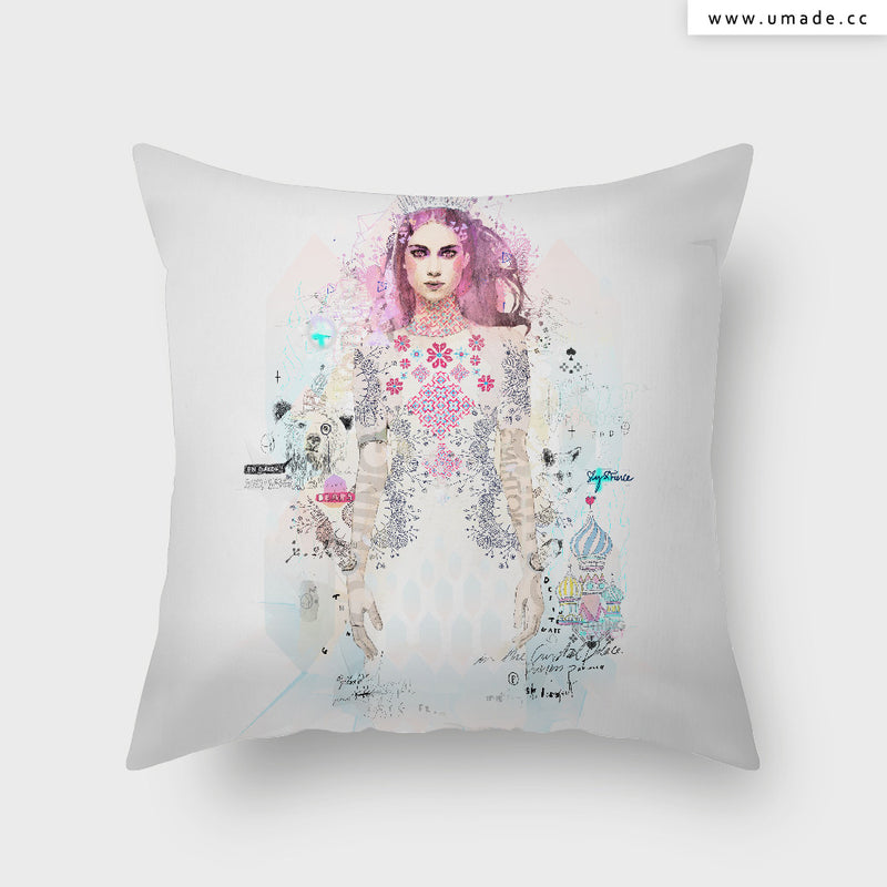 UMade Artist Throw Pillow-藝術家創作抱枕-Ice Princess - Raphaël Vicenzi