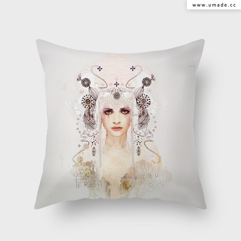 UMade Artist Throw Pillow-藝術家創作抱枕-Kokoshnik  Lets Start a Revolution - Raphaël Vicenzi
