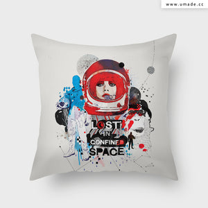 UMade Artist Throw Pillow-藝術家創作抱枕-Lost in Confined Space  - Raphaël Vicenzi