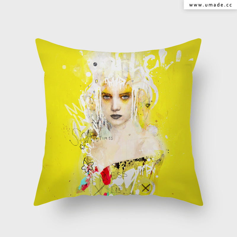 =UMade Artist Throw Pillow-藝術家創作抱枕-Some times I Mess Up Too  - Raphaël Vicenzi