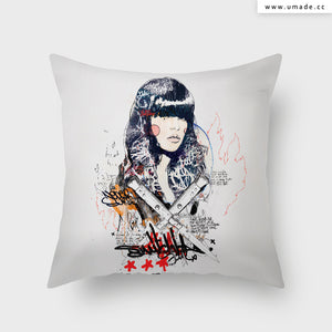 =UMade Artist Throw Pillow-藝術家創作抱枕-Switch blade Soul  - Raphaël Vicenzi