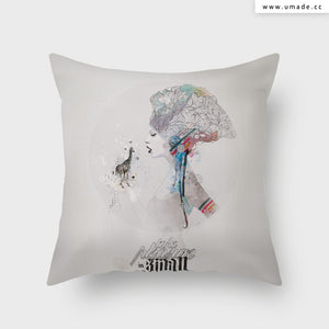 =UMade Artist Throw Pillow-藝術家創作抱枕-Take Pleasure in Small Things  - Raphaël Vicenzi
