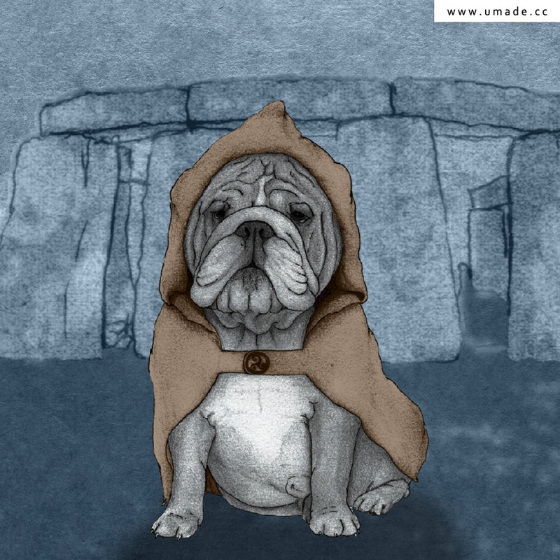 ★大托特★ English Bulldog With Stonehenge - Barruf