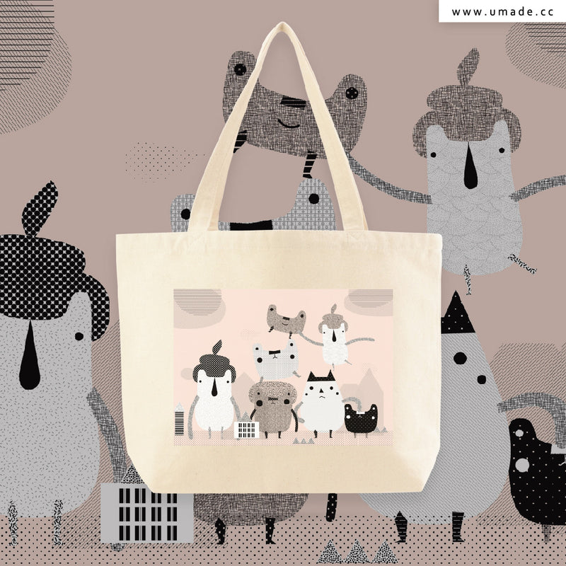 UMade Artist Large Tote Bag 藝術家創作帆布包  - Lian An