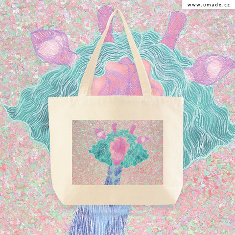 UMade Artist Large Tote Bag 藝術家創作帆布包  - 陳羽婷 Peggy