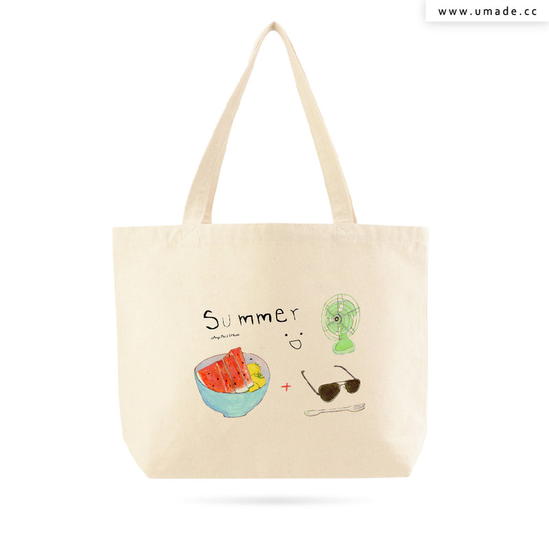 UMade Artist Large Tote Bag 藝術家創作帆布包  - 裴小馬Pony Pei