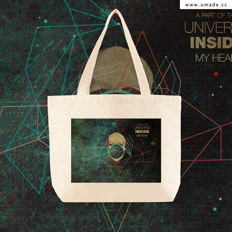UMade Artist Large Tote Bag 藝術家創作帆布包-A Part of The Universe Inside My Head-Frank Moth
