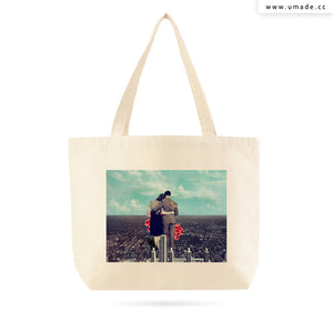 UMade Artist Large Tote Bag 藝術家創作帆布包-Together-Frank Moth